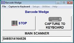 Barcode Wedge Main Capture Screen